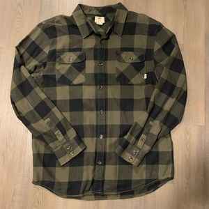 EUC VANS Classic Fit Plaid Flannel XL